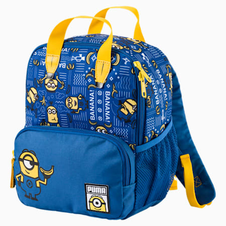 Kids Minions Small Backpack, Lapis Blue-AOP, small