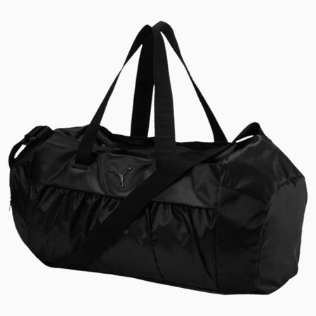 Active Training Women's Sports Duffle Bag, Puma Black-Puma Black, small