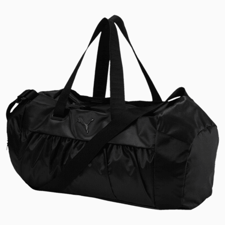 Active Training Women's Sports Duffel Bag, Puma Black-Puma Black, small