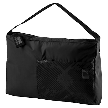 Dancer Barrel Bag, Puma Black-graphic, small-SEA