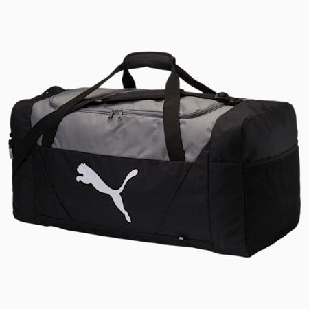 Fundamentals Large Sports Bag, Puma Black, small