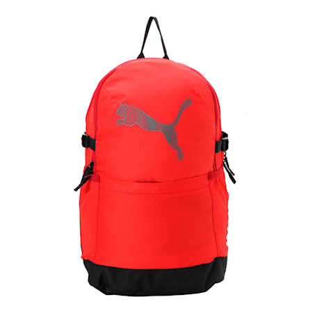 PUMA Street Cat Backpack, High Risk Red-Puma Black, small-IND