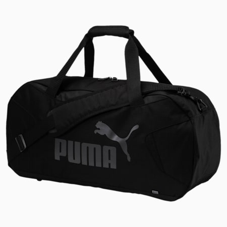 Gym Duffle Bag, Puma Black-Puma Black, small-SEA