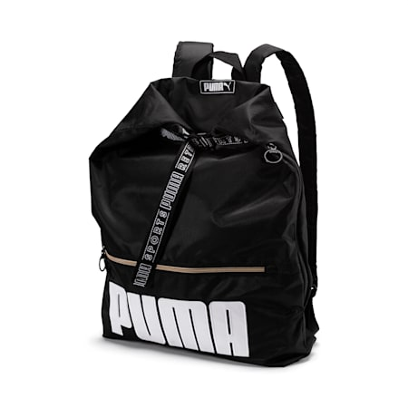 Women's Prime Street 2-Way Backpack, Puma Black, small-IND