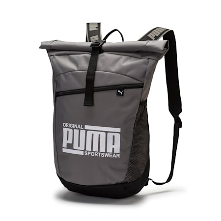 Sole Backpack, Charcoal Gray-Puma White, small-IND