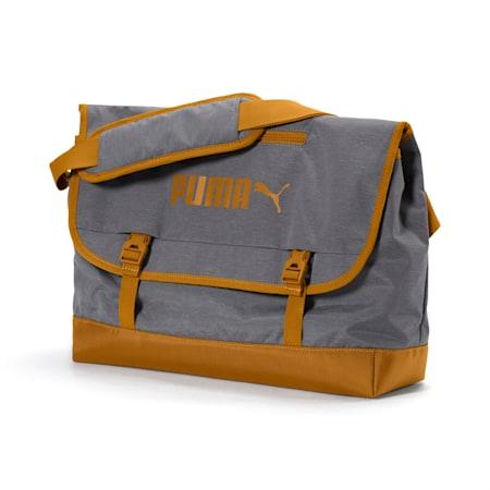 Campus Shoulder Bag Woven, Puma Black-Buckthorn Brown, small-IND