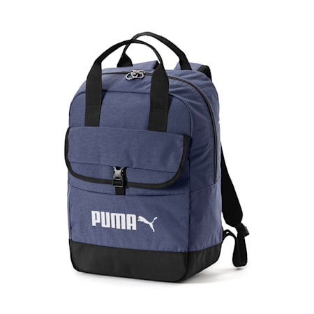 Campus Backpack Woven, Peacoat-Puma Black, small-IND