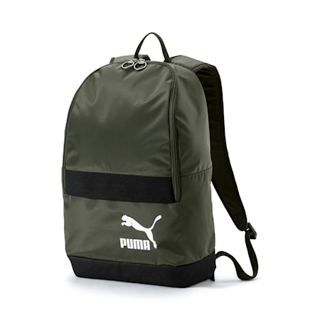 Originals Backpack Tren, Forest Night-Puma White, small-IND