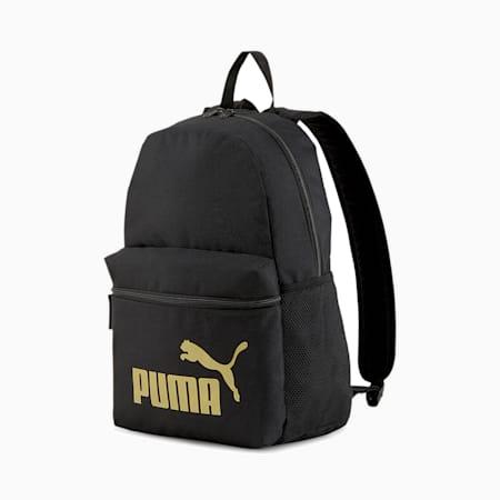 プーマ フェイズ バックパック 22L, Puma Black-Golden logo, small-JPN
