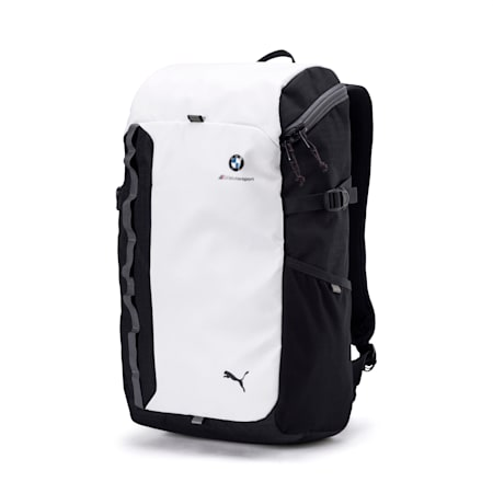 BMW M Motorsport Backpack, Puma White-Anthracite, small-IND