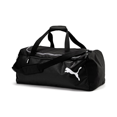 Fundamentals Medium Sports Bag, Puma Black, small