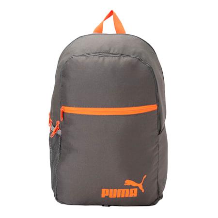 Puma Basic Backpack, QUIET SHADE-Shocking Orange, small-IND