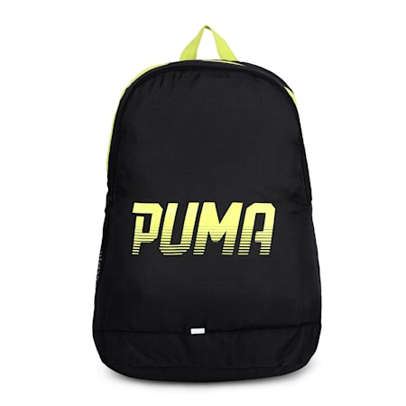 PUMA West Backpack, Puma Black-Nrgy Yellow, small-IND