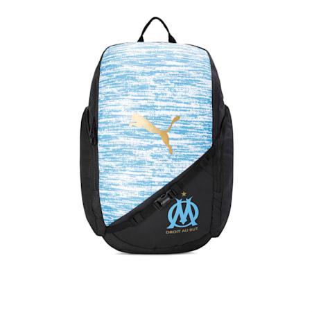 OM LIGA Backpack, AZURE BLUE-Puma Black, small-IND