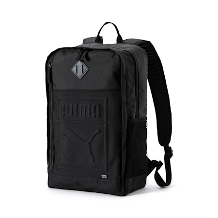 Square Backpack, Puma Black, small-IND