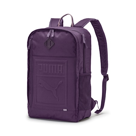 Square Backpack, Indigo, small-IND