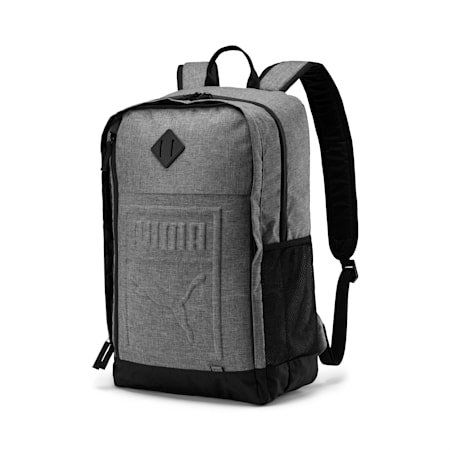 Square Backpack, Medium Gray Heather, small