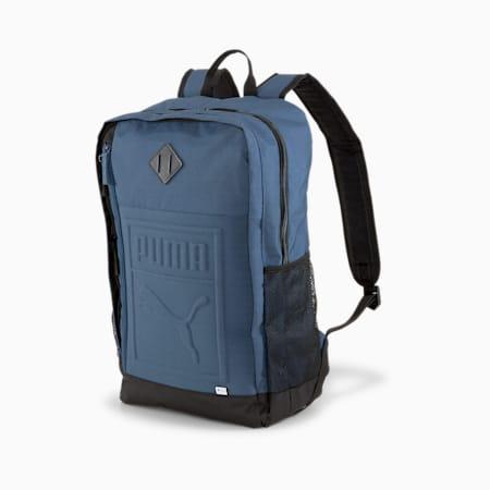 Square Backpack, Dark Denim, small