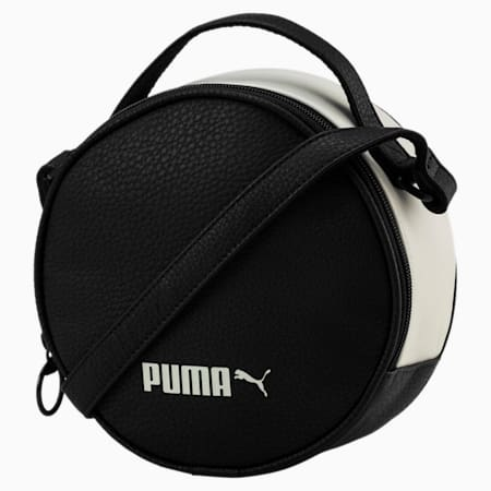 PUMA Prime Classics Women's Round Case Bag, Puma Black-Whisper White, small-SEA