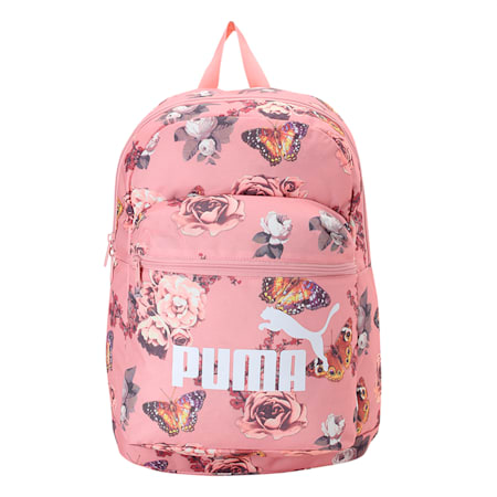 Classic Cat Backpack, Bridal Rose-Flower AOP, small-IND