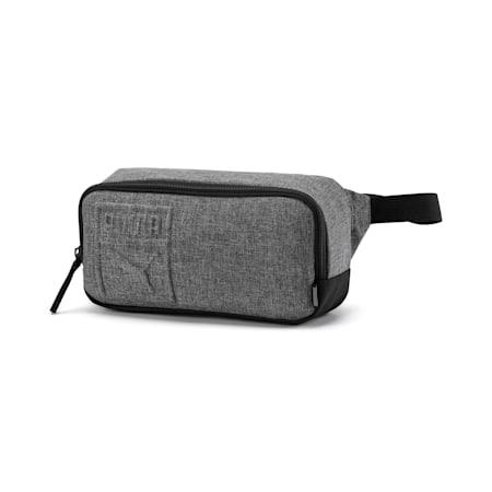 3D PUMA Logo Small Waist Bag, Medium Gray Heather, small-IND