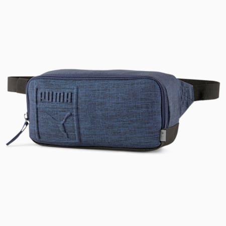 PUMA Small Waist Bag, Peacoat-Heather, small-SEA