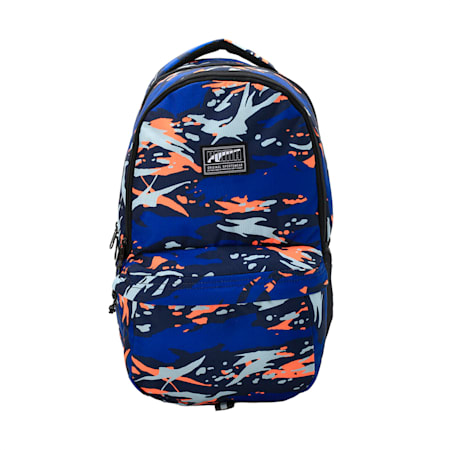 PUMA Academy Backpack IND, Peacoat-Camo AOP, small-IND