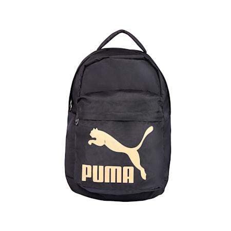 Originals Backpack IND, Puma Black-Gold, small-IND