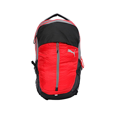 PUMA PWRcool Technology Apex Backpack, Ribbon Red-Steel Gray, small-IND