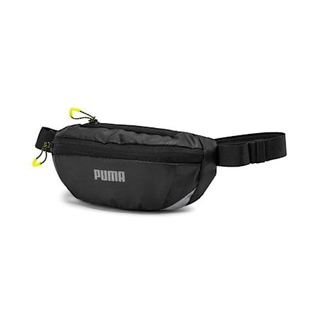 Classic Running Waist Bag, Puma Black-Yellow Alert, small-SEA