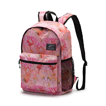 Academy Backpack, Pale Pink-Jungle AOP, small