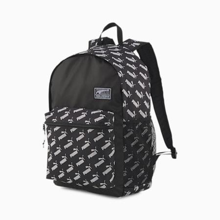 Academy Backpack, Puma Black-No. 1 Logo AOP, small