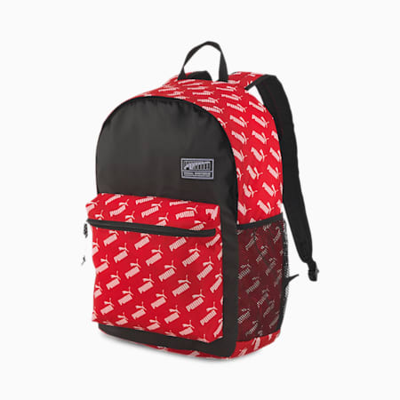 Academy Backpack, Puma Red-No. 1 Logo AOP, small