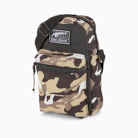 Academy Shoulder Bag, Puma Black-Pebble-Camo AOP, small-SEA