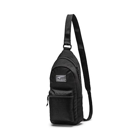 Academy Crossbody Backpack, Puma Black, small-SEA