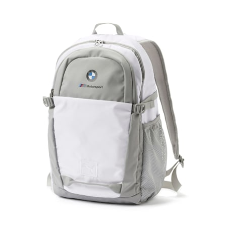 BMW M Motorsport Backpack, Puma White, small-IND