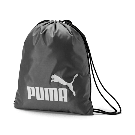 Classic Gym Sack, Charcoal Gray, small-IND