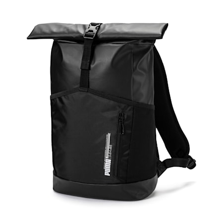 Energy Rolltop Backpack, Puma Black, small-IND
