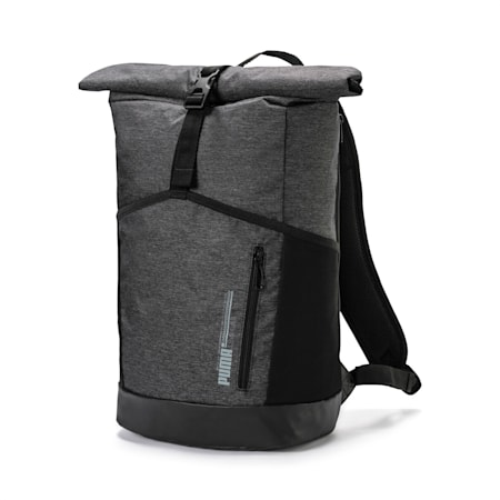 Energy Rolltop-Rucksack, Medium Gray Heather, small