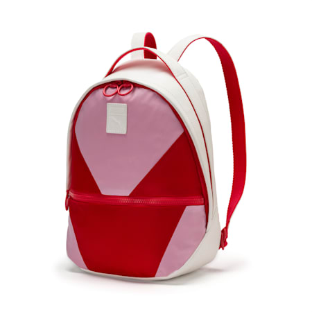 Archive Women's Backpack, Puma White-Hibiscus, small-SEA
