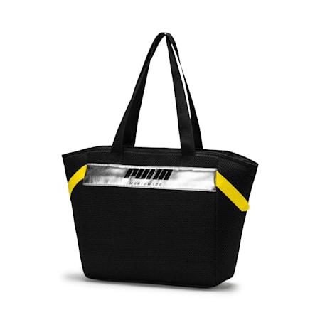 Women's Street Large Shopper, Puma Black-Blazing Yellow, small-IND