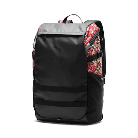 PUMA x LES BENJAMINS Backpack, Puma Black-AOP, small-SEA