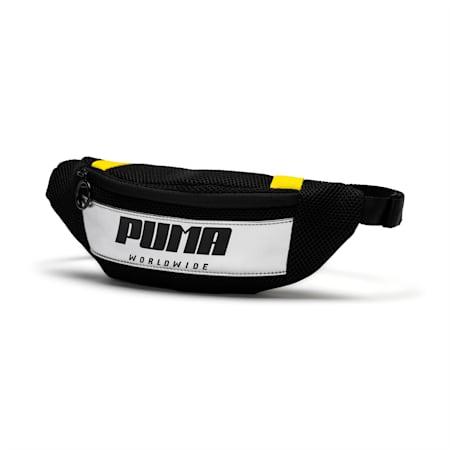 ウィメンズ プライム ストリート ウエストバッグ 1.5L, Puma Black-Blazing Yellow, small-JPN