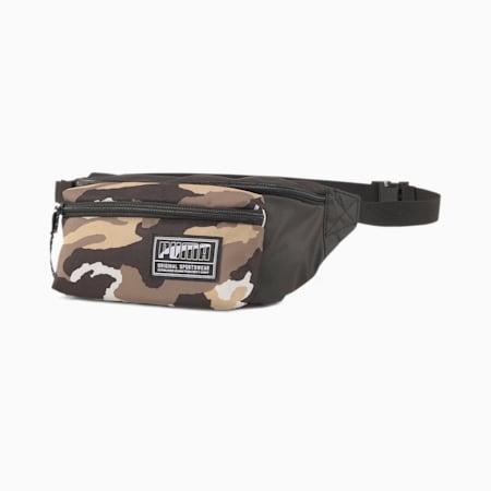 Academy Waist Bag, Puma Black-Pebble-Camo AOP, small