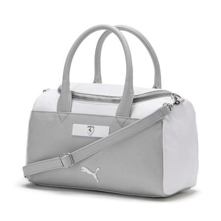 Ferrari Lifestyle Women's Handbag, Puma White-Gray Violet, small-IND