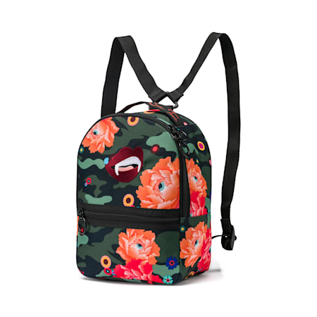 PUMA x SUE TSAI Women's Backpack, Puma Black-AOP, small-SEA