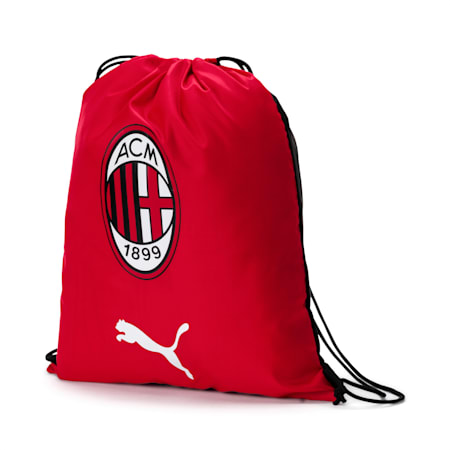 AC Milan Gym Sack, Tango Red-Puma Black, small