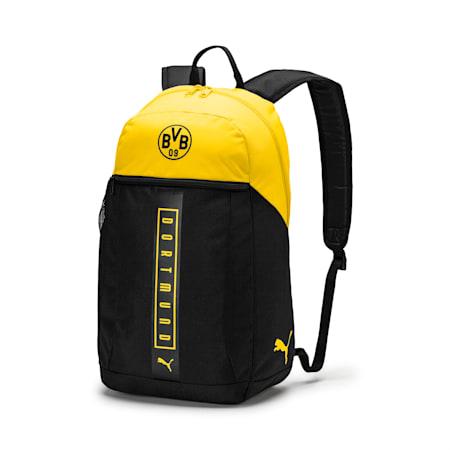 BVB Fan Backpack, Puma Black-Cyber Yellow, small