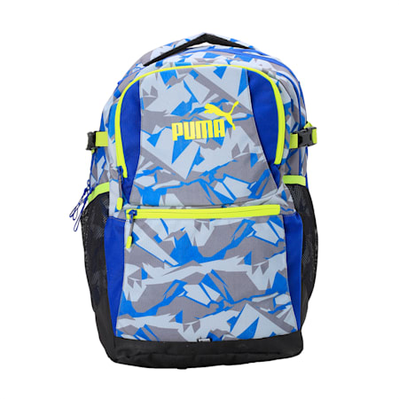 PUMA City Backpack, Sodalite Blue-Acid Lime-AOP, small-IND