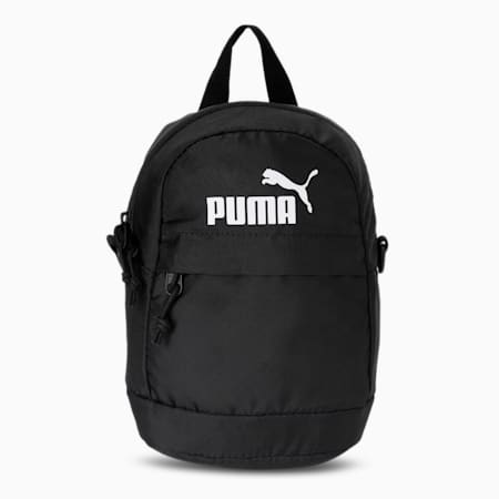 PUMA Minime Retro Unisex Backpack, Puma Black, small-IND